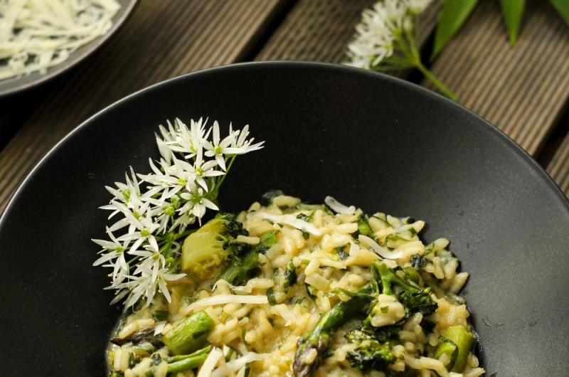 Asparagus And Wild Garlic Risotto