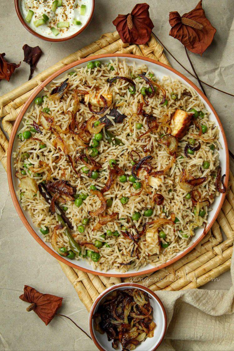 Pea Pulao / Matar Pulav / Pilaf Rice